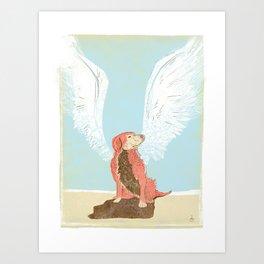 All Dogs Go to Heaven (Golden Retriever) Art Print