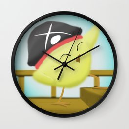 Pirate Chick | Pip Wall Clock