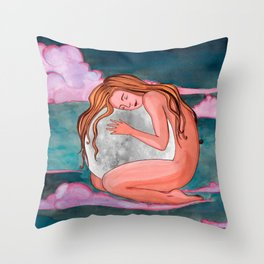 Moon Remember Throw Pillow