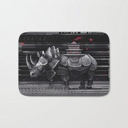 elegant rhinoceros Bath Mat
