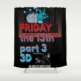 Friday the13th 3D Custom art print Shower Curtain