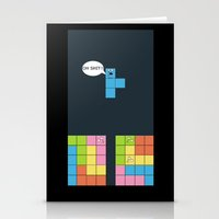 tetris Stationery Cards featuring Tetris by sEndro