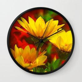 Summer Flowers 108 Wall Clock