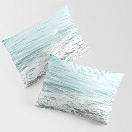 Travel photography wave I aqua ocean wave Pillow Sham
