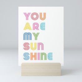 You Are My Sunshine Brightly Colored Kids Room Decor Mini Art Print