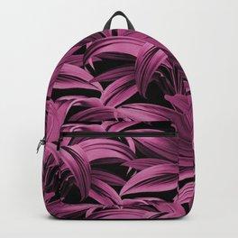 Cordyline Princess Margaret Watercolor Hot Pink Pattern Backpack