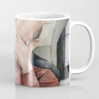 picard Mugs featuring Picard Facepalm Meme by Olechka