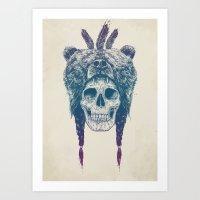 dead Art Prints featuring Dead shaman by Balazs Solti