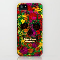 Rainbow Flower Skull iPhone 4 4s 5 5s 5c, ipod, ipad, pillow case and tshirt Slim Case iPhone (5, 5s)