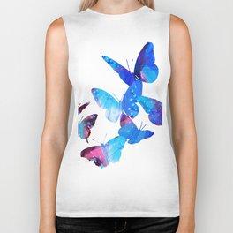 Blue Butterflies Biker Tank
