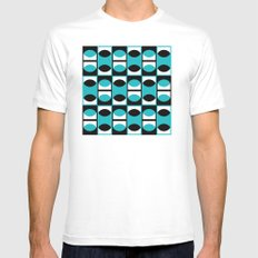 Lens pattern (turquoise) White MEDIUM Mens Fitted Tee