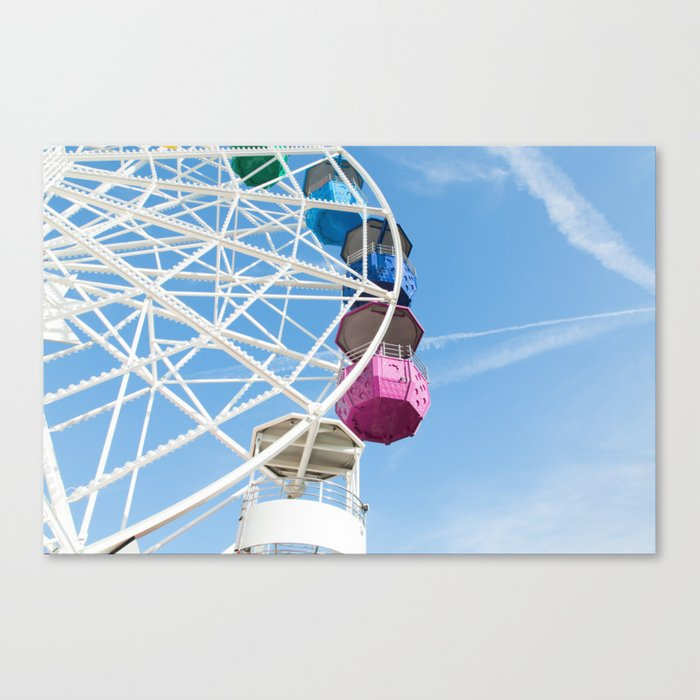 Ferris Wheel in Barcelona Canvas Print