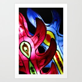 Pink and Blue Chinese Paper Lantern Photograph Art Print Art Print