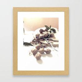 Food porn, still life, kitchen wall art, living room, home decor, nuts Framed Art Print