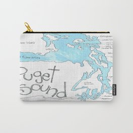 Puget Sound by Seattle Artist Mary Klump Carry-All Pouch