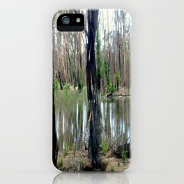 Reflecting after a bush Fire iPhone Case