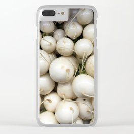 White RADish Clear iPhone Case