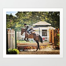 Equestrian love Art Print