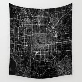 Beijing Black Map Wall Tapestry