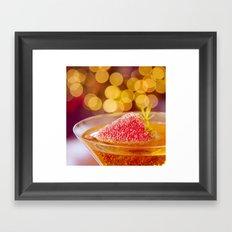 Strawberries and Champagne Framed Art Print