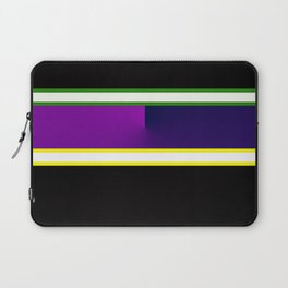 Team Colors 3,,,navy,purple,green and yellow Laptop Sleeve