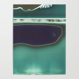 Instang Abstraction in Teal Poster