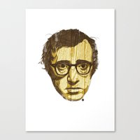 woody Canvas Prints featuring Woody by Ross Zietz