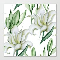 lily Canvas Prints featuring Lily by Julia Badeeva