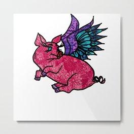 Pig with Wings Dreams Metal Print