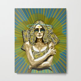 Golden Madness Metal Print