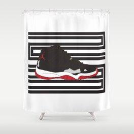 Jordan 11 Shower Curtain