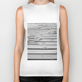 dock, black and white Biker Tank