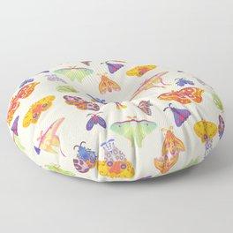 Moth - pastel Floor Pillow