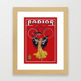 Vintage Radior Bicycle Ad Framed Art Print
