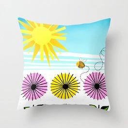 Buzzy As A Bee Throw Pillow