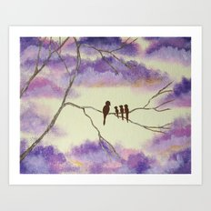 A Mothers Blessings, Birds in Tree Art Print