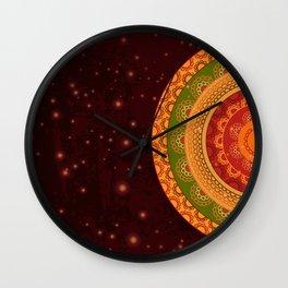 Indian Mandala Wall Clock