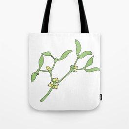 Christmas mistletoe Tote Bag