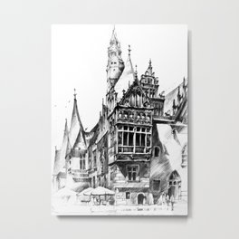 Wroclaw City Hall Metal Print