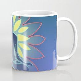 Yoga, Blue Yellow Coffee Mug