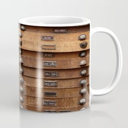 Wooden cabinet with drawers Coffee Mug