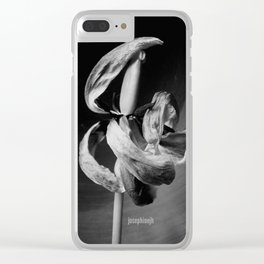 Dancing Tulip jjhelene Clear iPhone Case