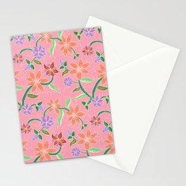 Pink Batik Stationery Cards