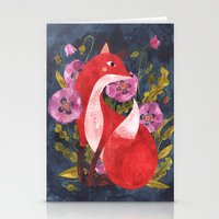 oana befort Stationery Cards featuring FOX & FLORA by Oana Befort