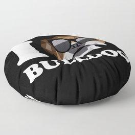 I Love Bulldog modern v2 Floor Pillow