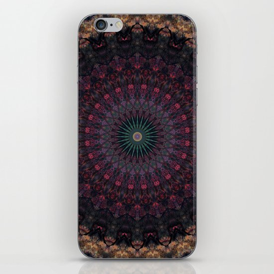Mandala in dark red and brown tones by jaroslawblaminsky
