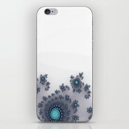 White with Blue Sparkle iPhone Skin