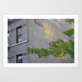 green in the city Art Print