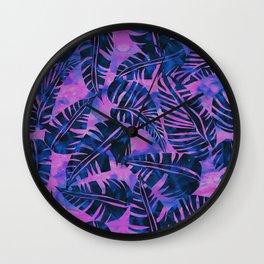 Lani Kai Leaf Purple Wall Clock