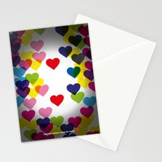 I feel your whisper across the crowd. Stationery Cards